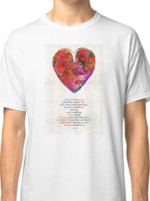 Red Heart Art - Love Is - By Sharon Cummings Classic T-Shirt