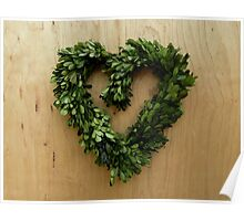 Leafy Heart Poster