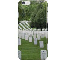 Military cemetery Washington DC iPhone Case/Skin