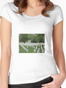 Military cemetery Washington DC Women's Fitted Scoop T-Shirt