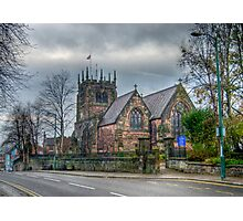 St Edwards church Leek Photographic Print