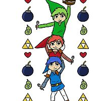 Triforce Heroes - The Legend of Cake by maxinefeen