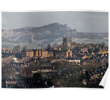 Leek as seen from the Ladderedge Country Park Poster