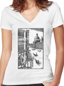 Venice Women's Fitted V-Neck T-Shirt