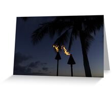 Just After Sunset, the Beach Party is Starting... Greeting Card