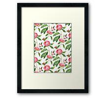 Romantic watercolor Peonies,  botanical illustration.  Framed Print