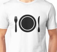 Knife, fork and plate. Unisex T-Shirt