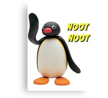 Pingu Canvas Print