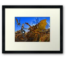 Knights Quest Framed Print