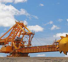 Coal Reclaimer - Kooragang Island by Phil Woodman