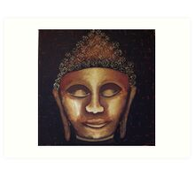 Golden Buddha Art Print