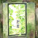 Window at the château, Varaignes, France by ian osborne