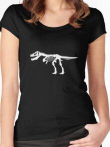 Tyrannosaurus Rex Dinosaur Skeleton Women's Fitted Scoop T-Shirt