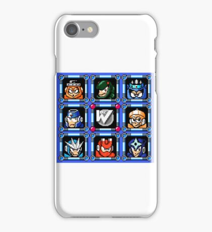 Megaman 3 Boss Select iPhone Case/Skin