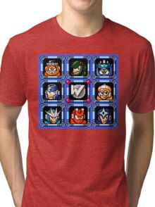 Megaman 3 Boss Select Tri-blend T-Shirt