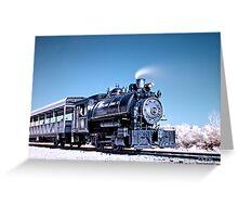 Flagg Coal Steam Engine HDR/IR Greeting Card