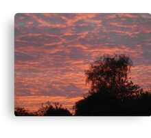 Peach Sky Canvas Print