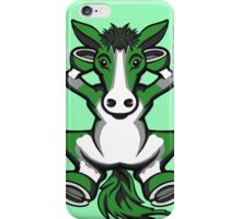 Horse Chilling Green and White  iPhone Case/Skin