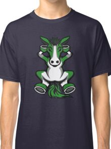 Horse Chilling Green and White  Classic T-Shirt