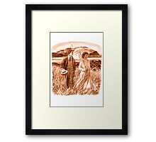 Edwardian Couple (sepia) Framed Print