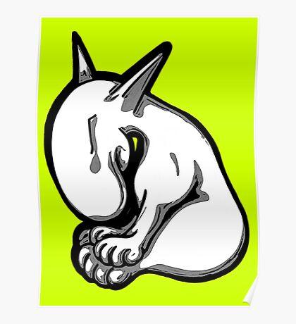 Shy English Bull Terrier  Poster