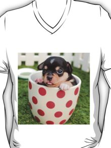 Chihuahua Puppy in Coffee Cup T-Shirt