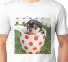 Chihuahua Puppy in Coffee Cup Unisex T-Shirt