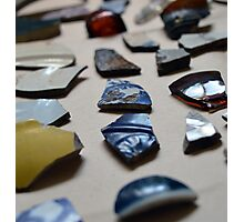 Found objects, ceramic fragments Photographic Print