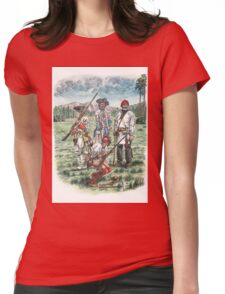 French Troops at the Battle of Quebec 1759 Womens Fitted T-Shirt