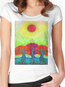 The Sun Three  Women's Fitted Scoop T-Shirt