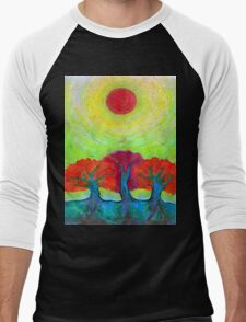The Sun Three  Men's Baseball ¾ T-Shirt