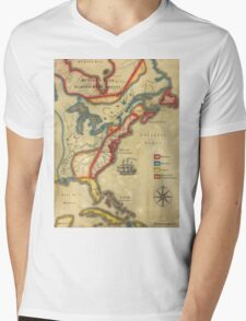 North America 1755 Mens V-Neck T-Shirt