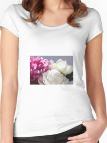 Peony flower Women's Fitted Scoop T-Shirt