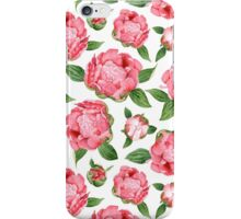 Watercolor Peonies iPhone Case/Skin