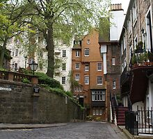 Ramsay Garden streetscape, Edinburgh by BronReid
