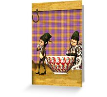 Note Card To Match - Tea ... Good For Your Elf! Greeting Card