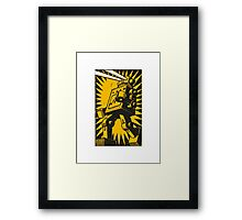 Black Robot Framed Print