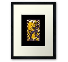 Purple Robot Framed Print