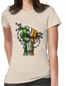 Irish Fist Sticker/ Tee Womens Fitted T-Shirt