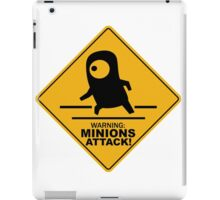 Warning Minions Attack Despicable Me Film Funny Parody iPad Case/Skin