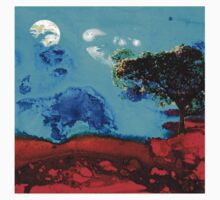 Red And Blue Landscape by Sharon Cummings  Baby Tee