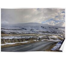 Snow Road in the Dales Poster