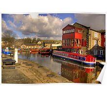 Canal Side - Skipton. Poster