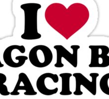 I love Dragon boat racing Sticker