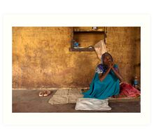 Binda. Varanasi Art Print