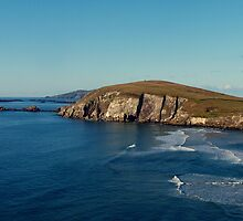 Slea Head rocks & Blasket Islands by davejm
