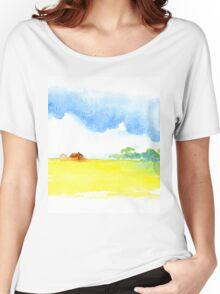 Yellow field Women's Relaxed Fit T-Shirt