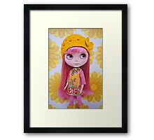 Zahra in pink and yellow Framed Print