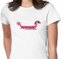 Dragon boat Womens Fitted T-Shirt