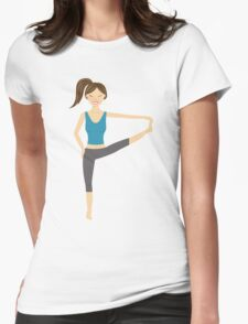Cute Yoga Girl In Extended Hand To Toe Pose T-Shirt